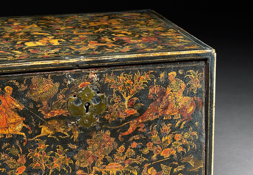 Lacquer writing cabinet, India, early 17th century (Museum no. EA1978.129)