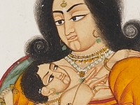 Detail of Madonna and Child by a flowering tree, Mewar, 1st half of the 19th century (EA1999.9)