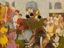 Reception for a Persian embassy, by Hunhar, about 1645 (Museum no: LI118.14)