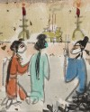 Detail of Figures from Romance of the Western Chamber, Mount Siming, China, 1989 (Museum No: EA2000.. © the artist