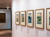 Eastern Art Paintings Gallery - Japanese Landscape Prints exhibition west wall. © Ashmolean Museum, University of Oxford