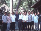 Khoan (second from left) and Michael Sullivan (fourth from left) with Song Wenzhi (fifth from left),, Photograph courtesy of Khoan and Michael Sullivan. © Michael Sullivan