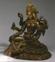 Fig. 21. Vasudhara. Cast gilt copper on repoussé base. H. 16.2 cm.Museum Rietberg, Zurich. © Museum Rietberg, Zurich