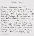 Page from Herbert Ingram's diary. © The Ingram Family