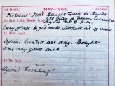 Page from Mrs Ingram's diary. © The Ingram Family