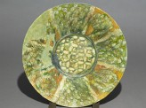 Dish with radial decoration (top)