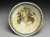 Bowl with paired riders inscribed with good wishes (top)
