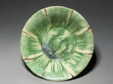 Bowl with splashed decoration in green and brown (top)