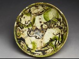 Bowl with lion attacking a gazelle