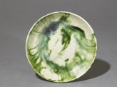 Saucer with splashed decoration in green (top)