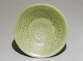 Greenware bowl with floral decoration (top)