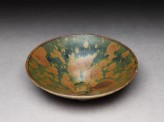 Black ware bowl with iron glazes (oblique)