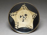 Black ware bowl with star (top)