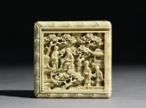Ivory puzzle box with figures in a garden (EA1956.1706)