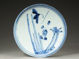 Plate with butterfly and flowers