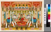 The goddess Mahalakshmi flanked by two white elephants