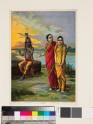 A sakhi, or confidante, indicates to Radha the beauty of Krishna the Flautist, or Muralidhara-Krishna