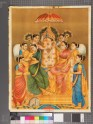 Ganapati, or Ganesha, surrounded by the eight nayakas