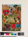Rama and Ravana doing battle