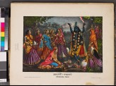 Krishna-kali surrounded by women