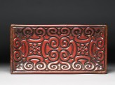 Carved lacquer tray with guri scrolling design
