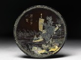 Lacquered disc with river scene (EA1967.149)