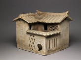 Burial model of a house (oblique)