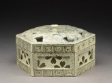 Hexagonal box with cherry blossoms