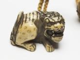 Netsuke in the form of a shishi, or lion dog (EA1976.42)