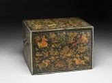 Writing cabinet decorated with hunting scenes