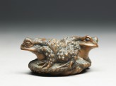 Netsuke in the form of two toads on a sandal