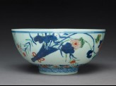 Bowl with chrysanthemums, poppies, and grasses
