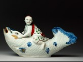 Figure of Benkei on a giant carp