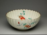 Fluted bowl with peony sprays