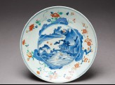 Plate with river scene