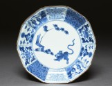 Foliated plate with tiger and bamboo (EA1978.744)