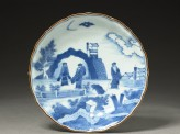 Foliated plate with &#039;Deshima Island&#039; theme (top)