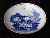 Blue-and-white dish with Prunus spray (EA1978.841)