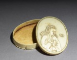 Ivory box with figure holding a fan (EA1978.966)