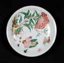 Dish with plant, hen, and six chicks (EA1978.1052)