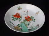 Dish with flowers and butterflies