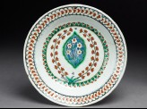 Dish with lobed medallion and flowers