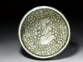 Bowl with seated figure and phoenixes