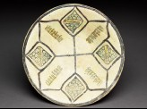 Bowl with eight-pointed star and pseudo-kufic inscription