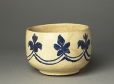 Mortar-shaped bowl with vegetal decoration (oblique)