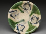 Bowl with blue and green decoration (top)