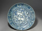Dish with horses