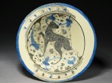 Bowl with hunting dog (top)