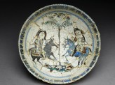 Bowl with a pair of riders