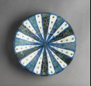 Dish with radial inscription